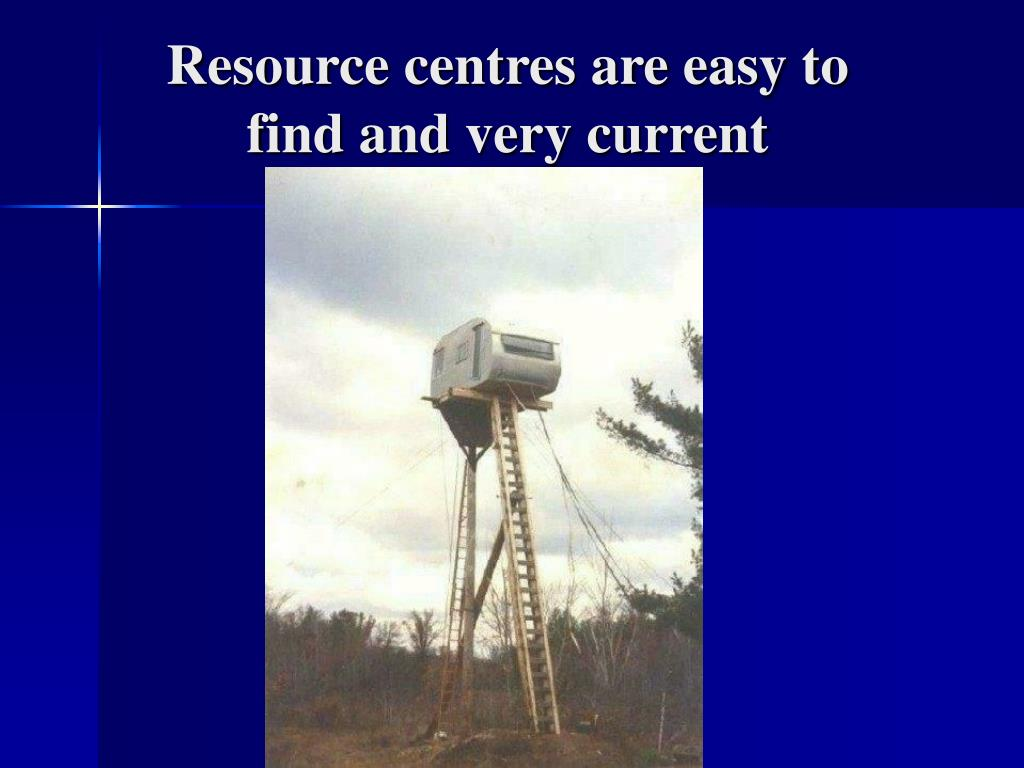 Resource centres are easy to find and very current