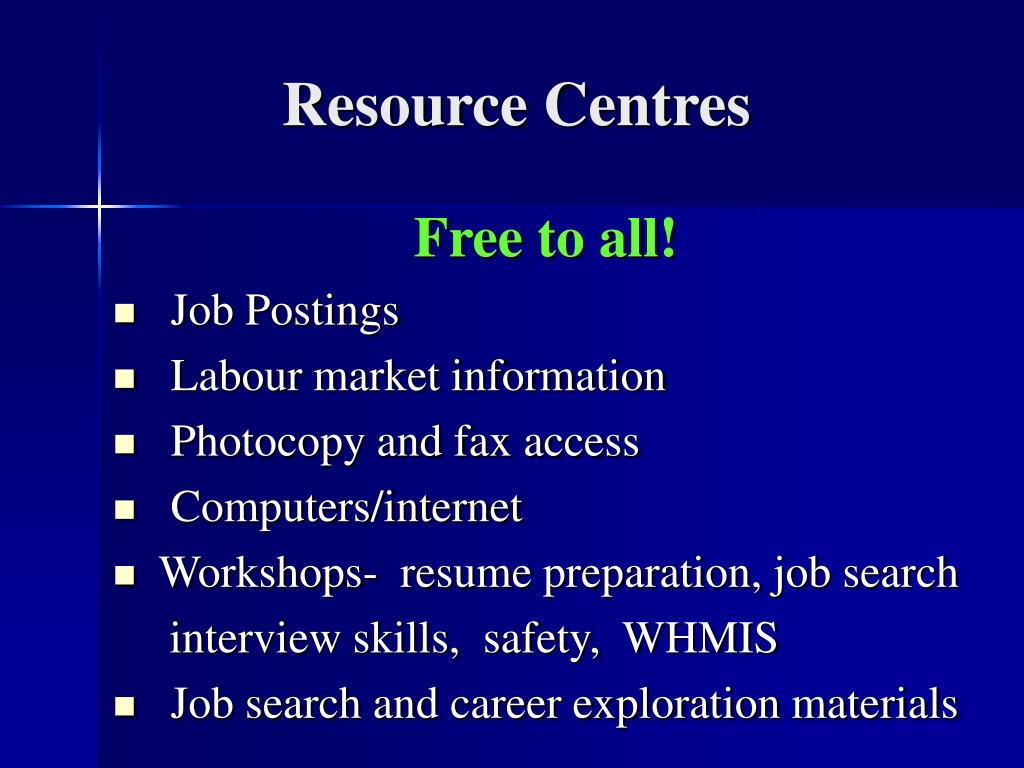 Resource Centres