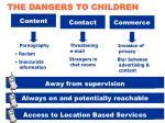 the dangers to children