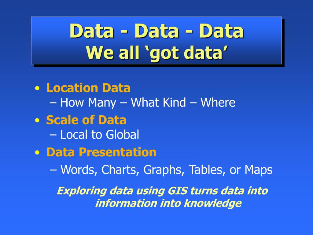 Data - Data - Data