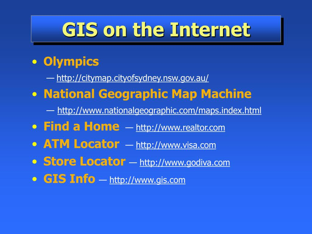 GIS on the Internet