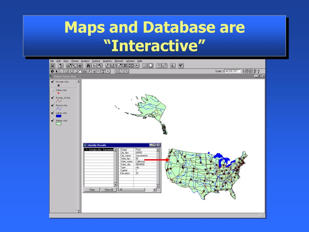 "Maps and Database are ""Interactive"""