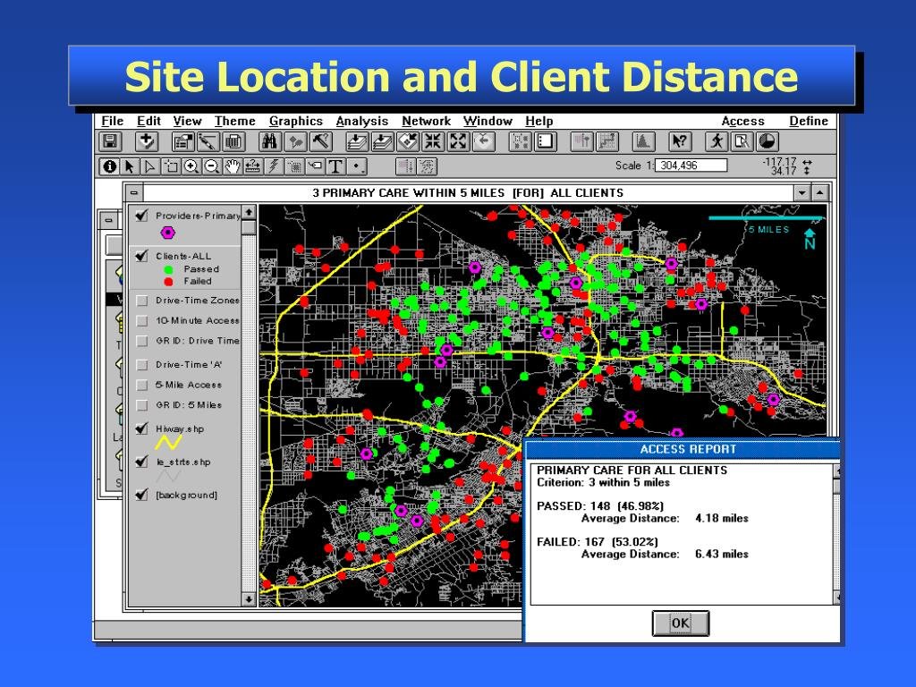 Site Location and Client Distance