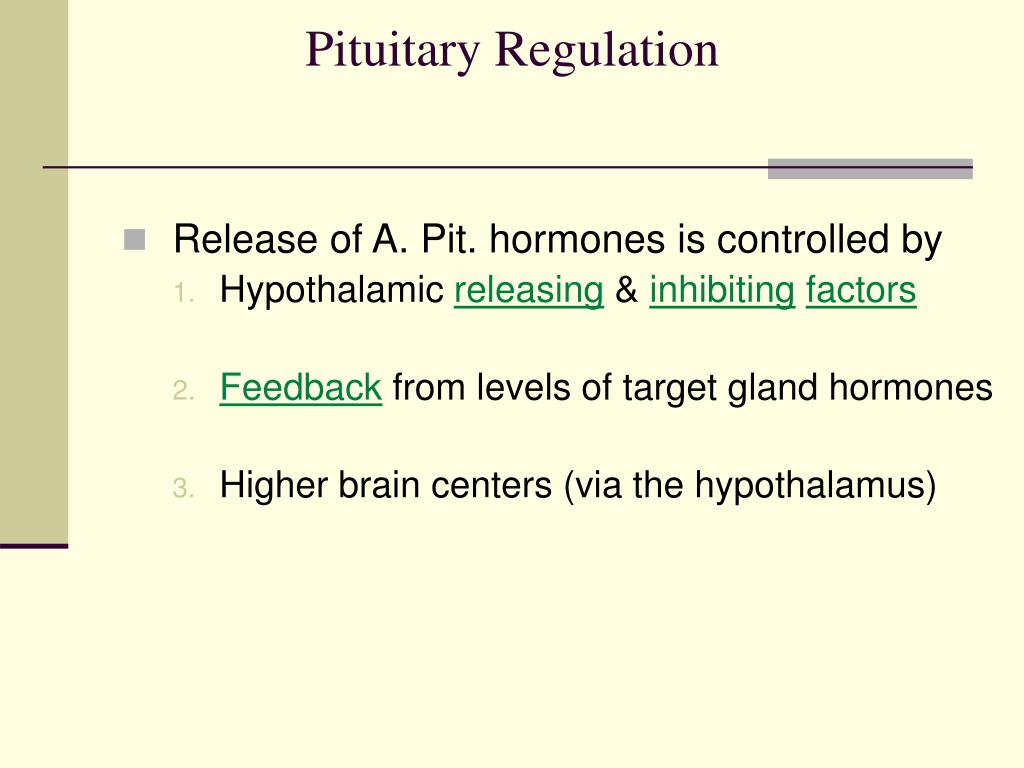 Pituitary Regulation