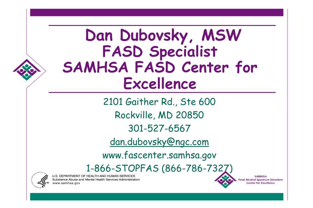 Dan Dubovsky, MSW