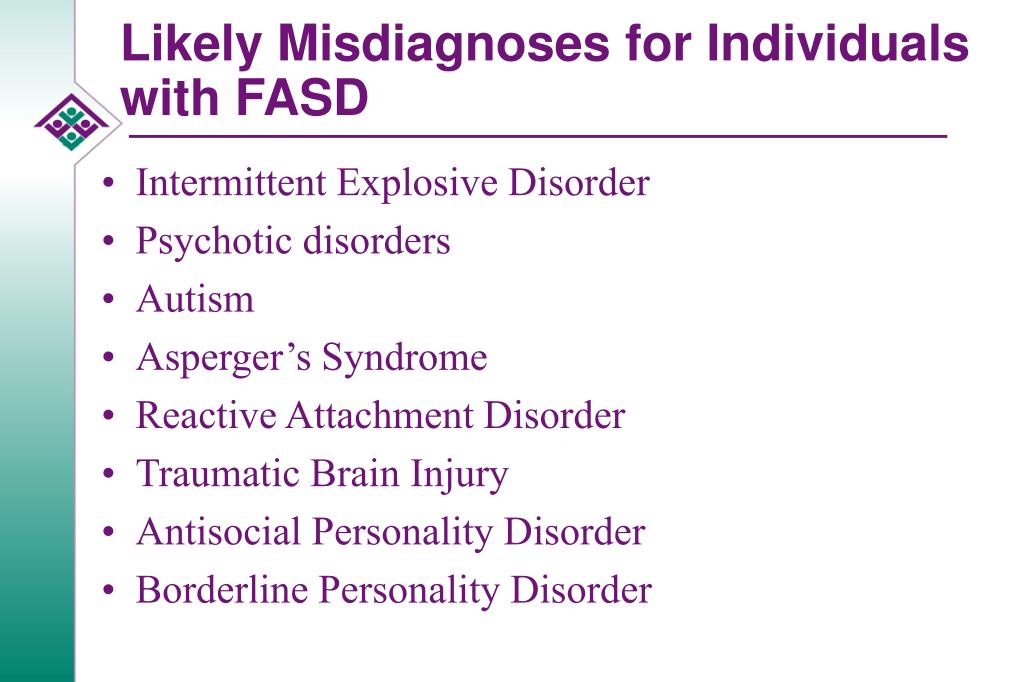 Likely Misdiagnoses for Individuals with FASD