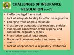 challenges of insurance regulation cont d14