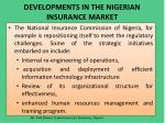 developments in the nigerian insurance market