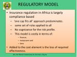 regulatory model