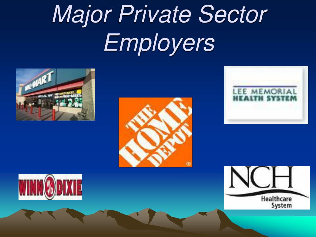 Major Private Sector Employers