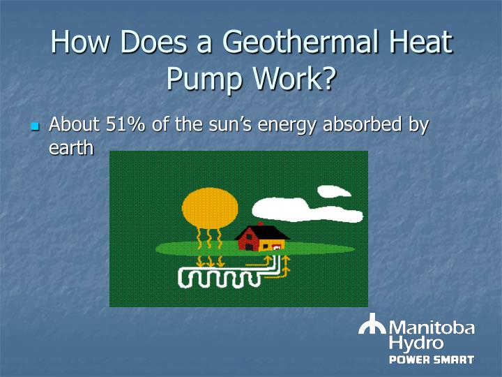 How does a geothermal heat pump work