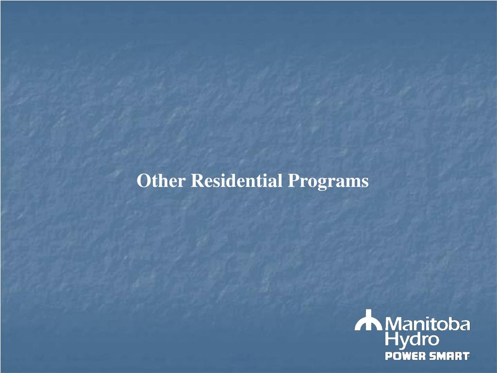 Other Residential Programs