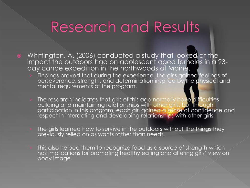 Research and Results