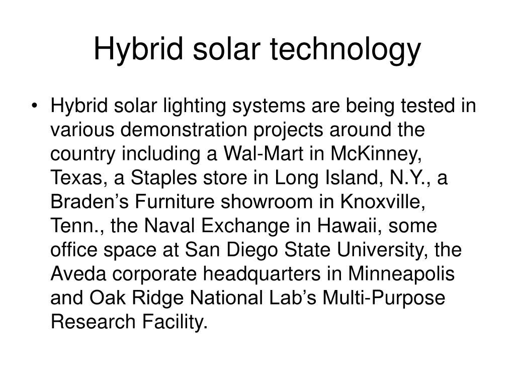 Hybrid solar technology