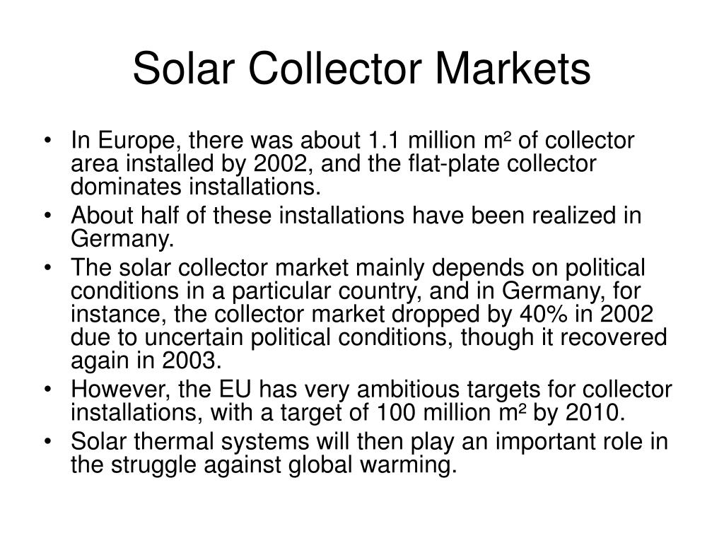 Solar Collector Markets