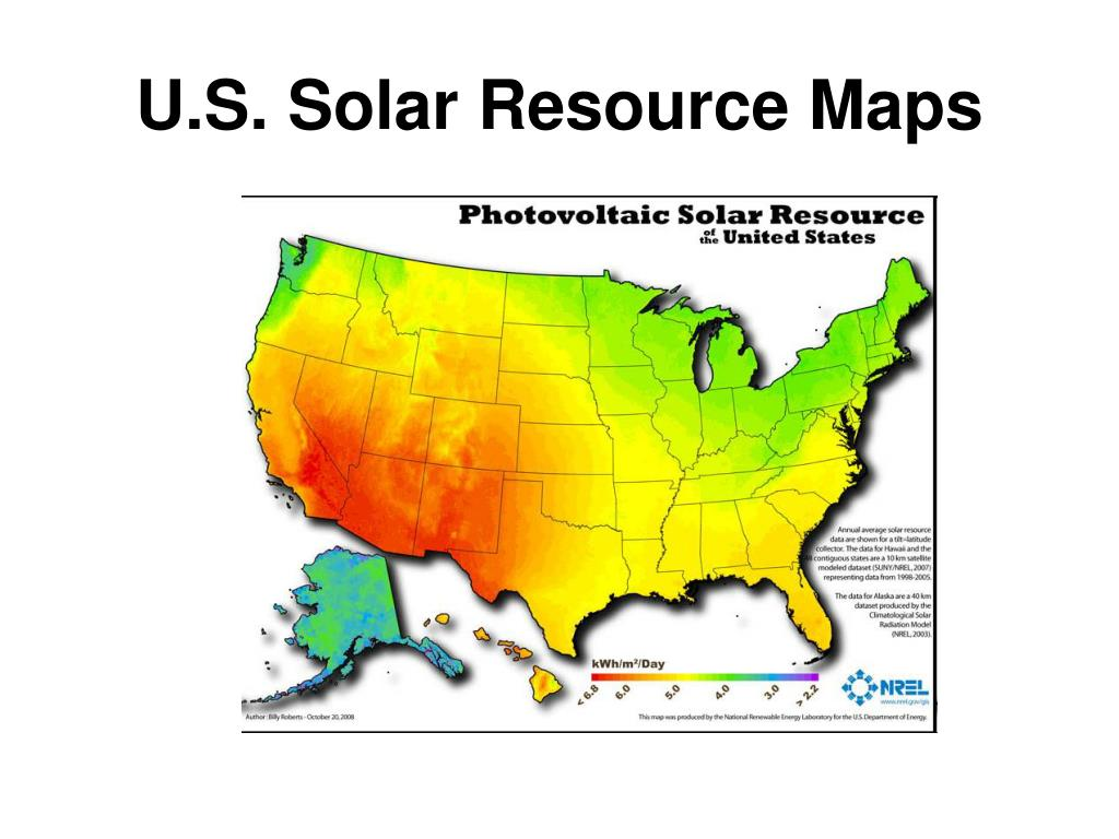 U.S. Solar Resource Maps