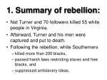 1 summary of rebellion