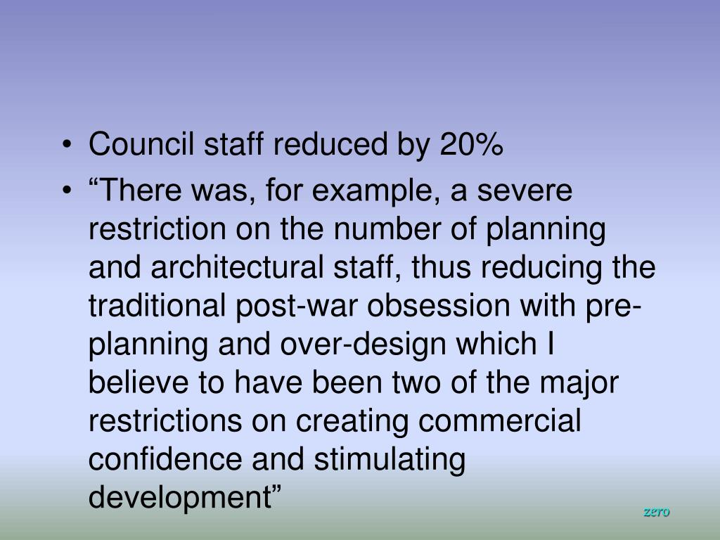 Council staff reduced by 20%