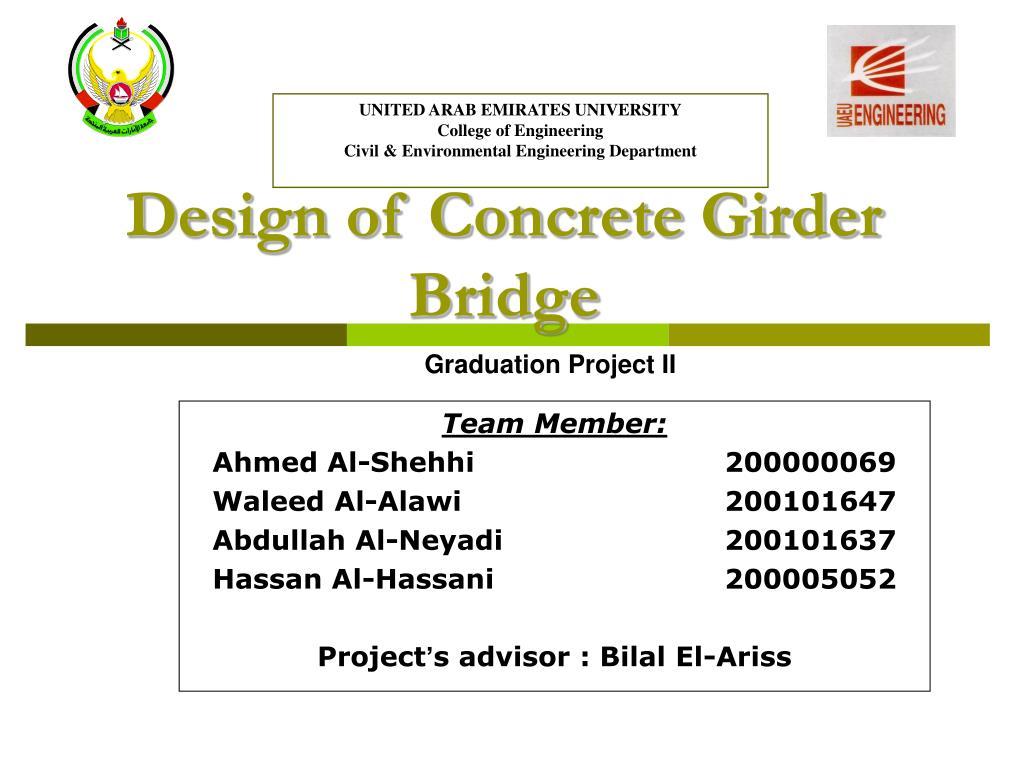 Design of Concrete Girder Bridge