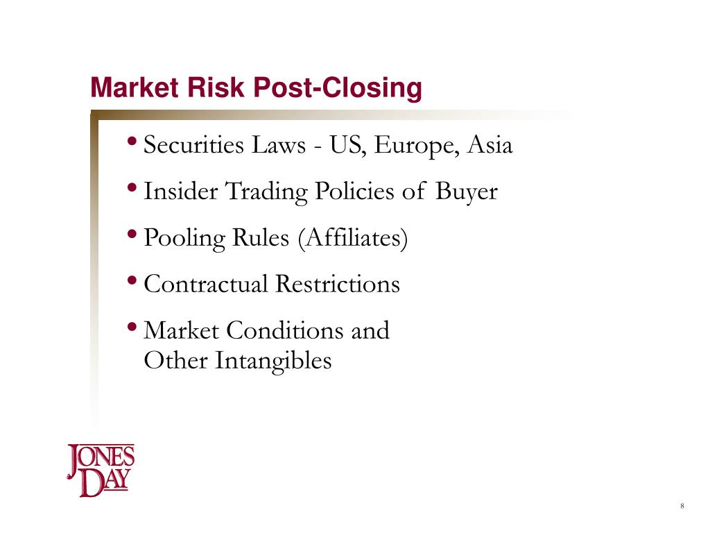 Market Risk Post-Closing