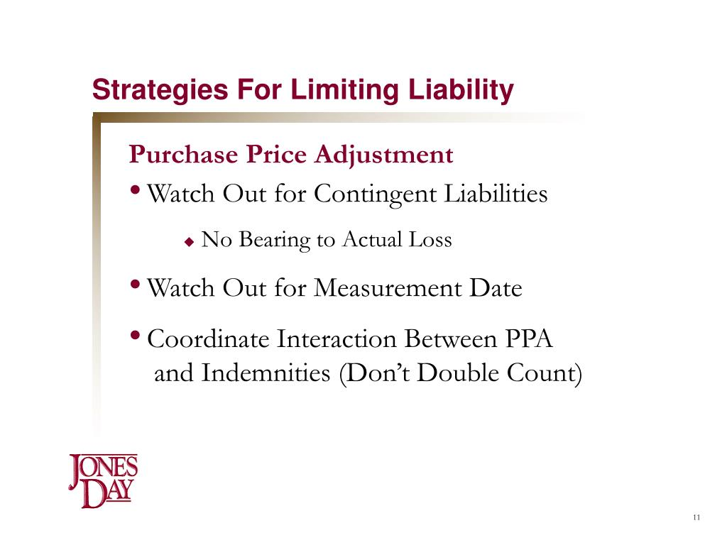 Strategies For Limiting Liability