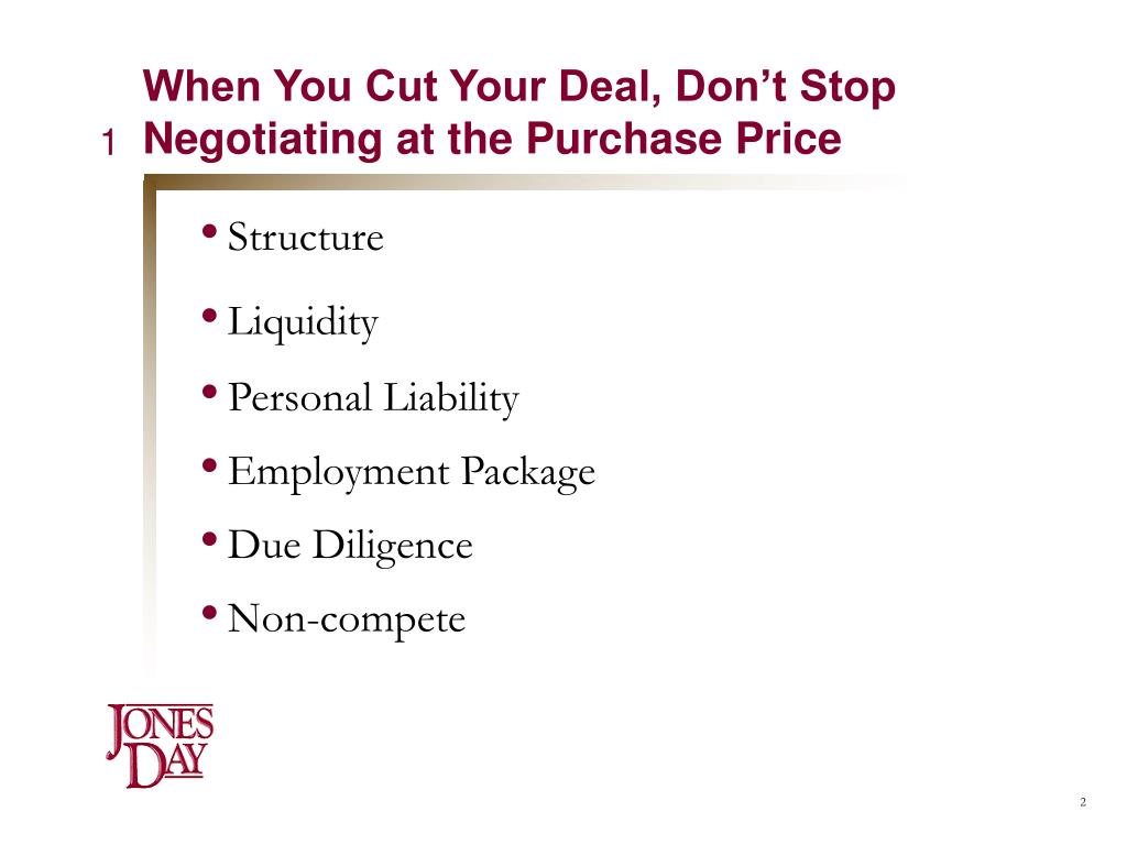 When You Cut Your Deal, Don't Stop Negotiating at the Purchase Price