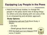 equipping lay people in the pews
