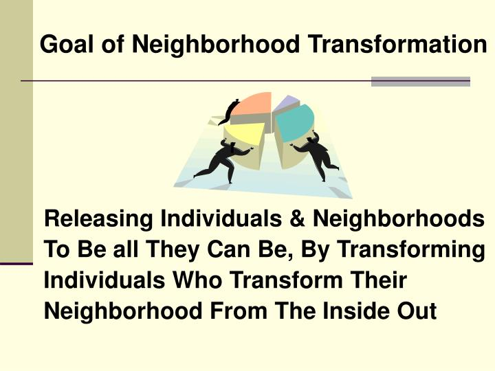 Goal of neighborhood transformation