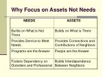 why focus on assets not needs