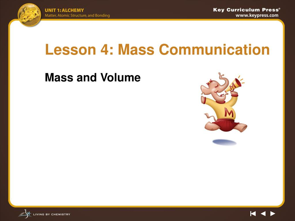 Lesson 4: Mass Communication