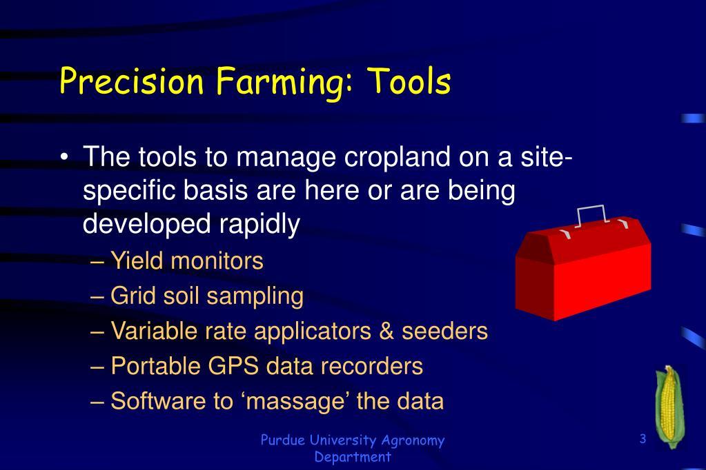 Precision Farming: Tools