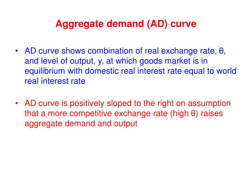 Aggregate demand (AD) curve
