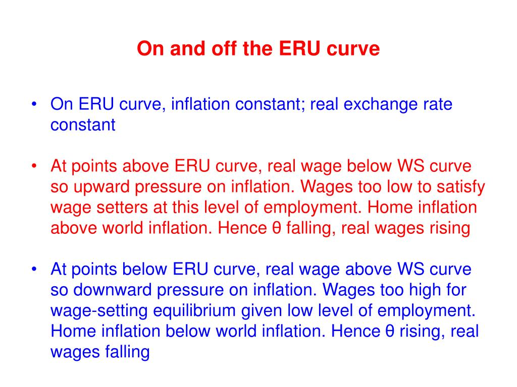 On and off the ERU curve