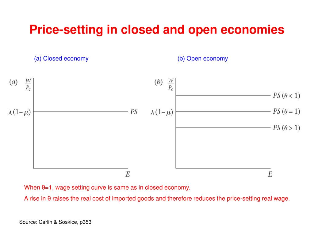 Price-setting in closed and open economies