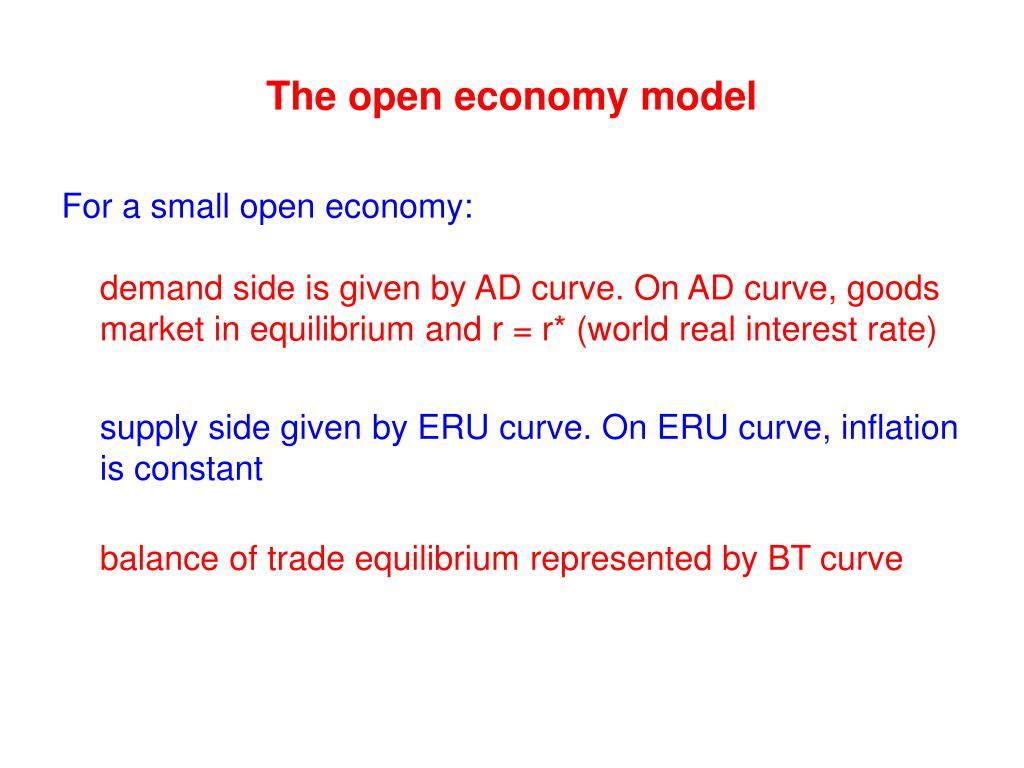 The open economy model