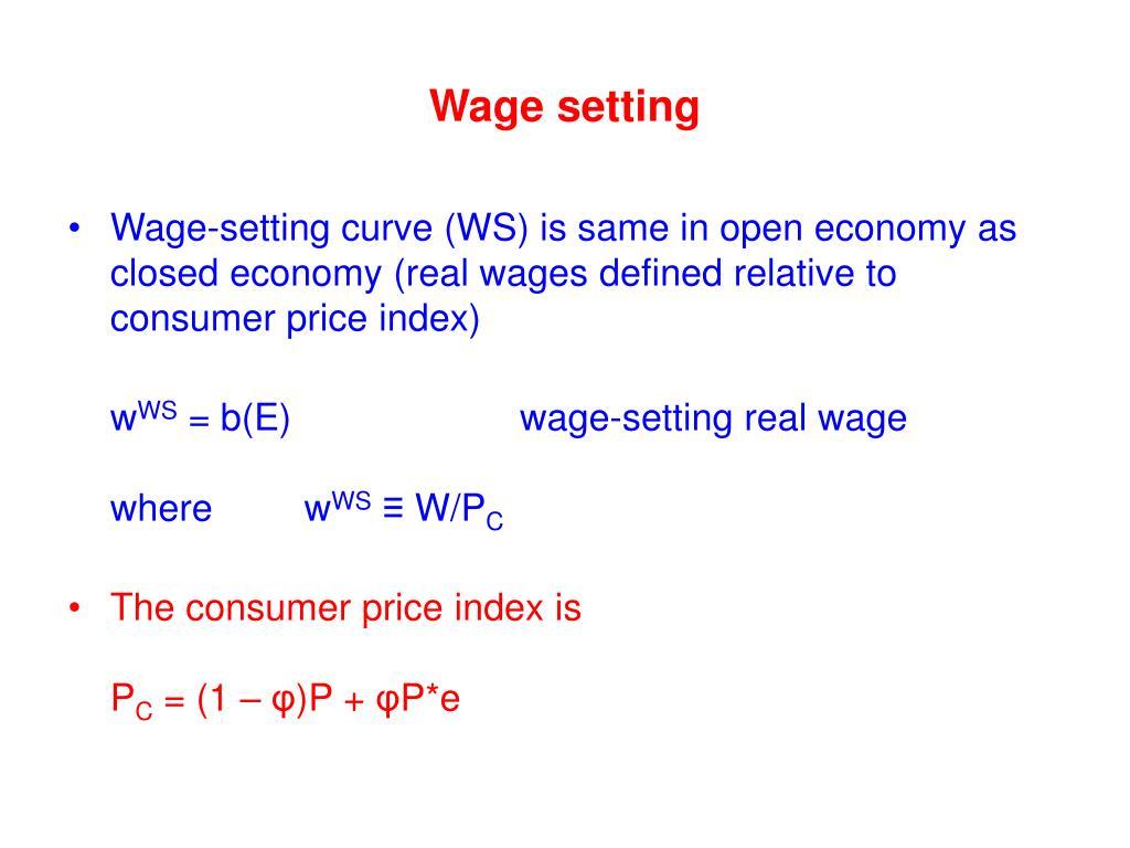 Wage setting