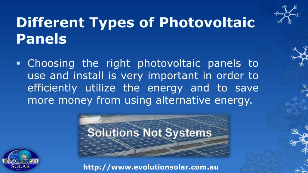 Different Types of Photovoltaic