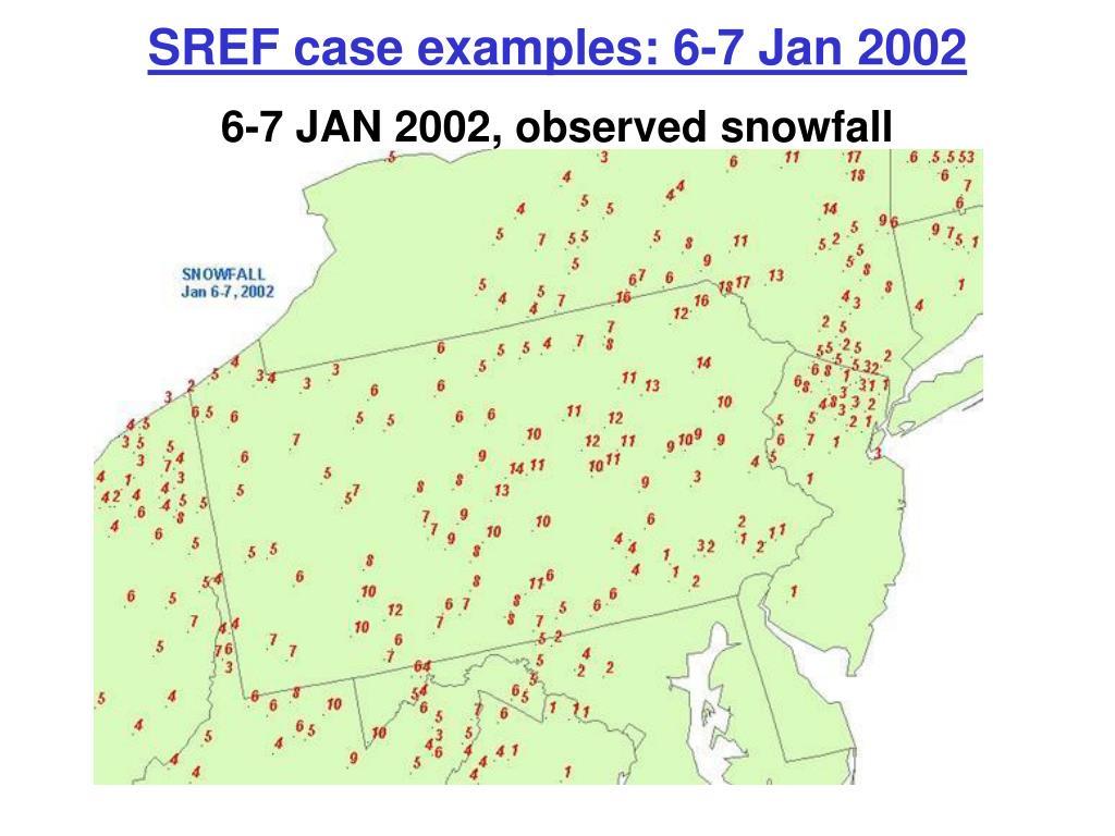 6-7 JAN 2002, observed snowfall