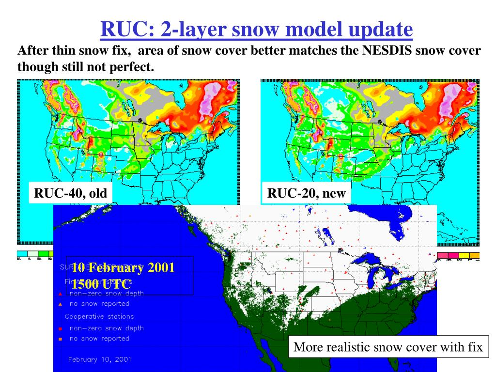 After thin snow fix,  area of snow cover better matches the NESDIS snow cover