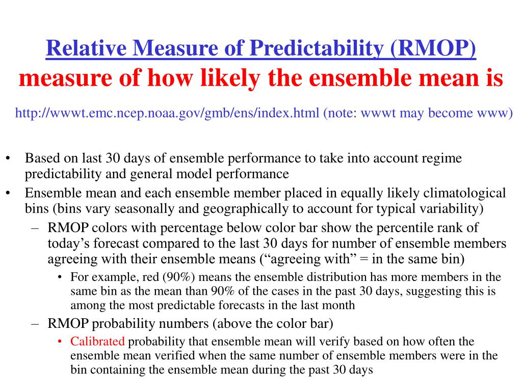 Relative Measure of Predictability (RMOP)