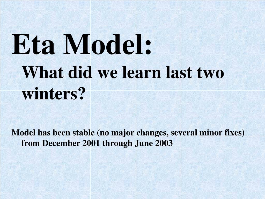 Eta Model: