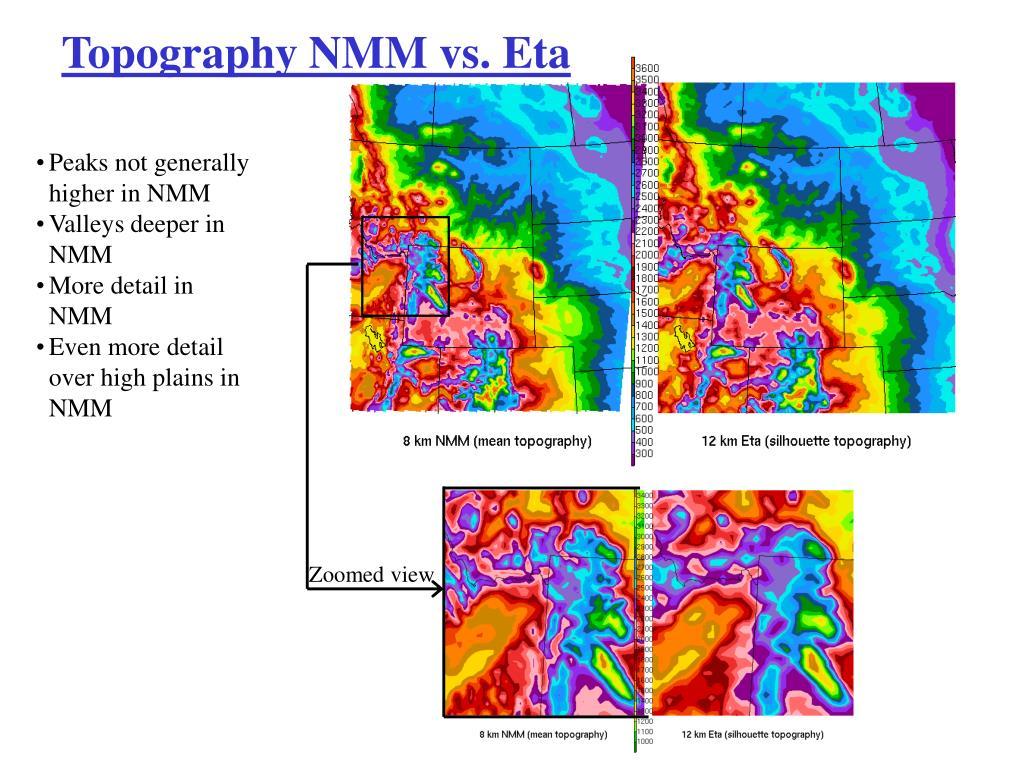 Topography NMM vs. Eta