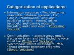 categorization of applications