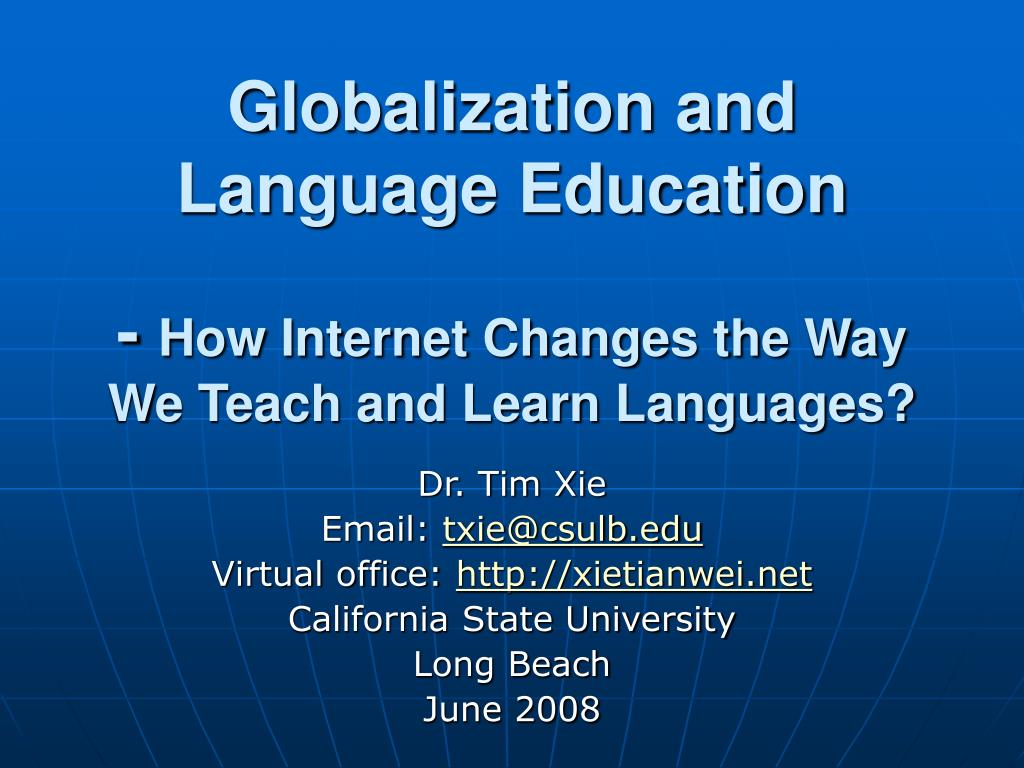 Globalization and Language Education