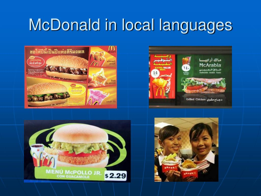 McDonald in local languages