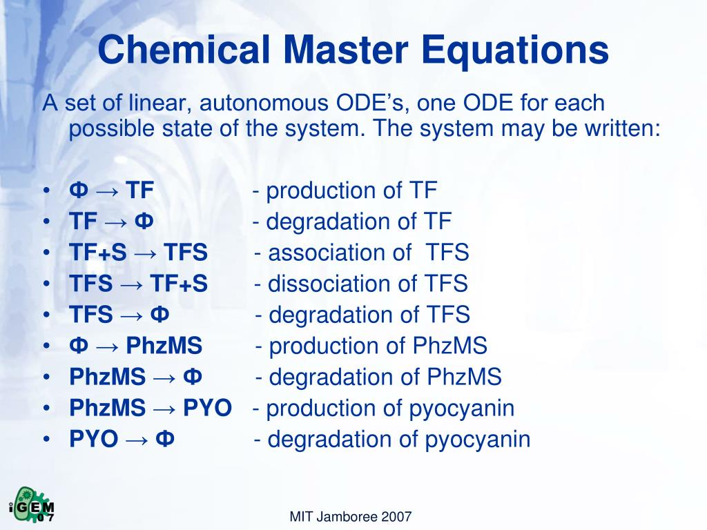Chemical Master Equations