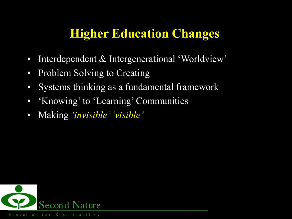 Higher Education Changes