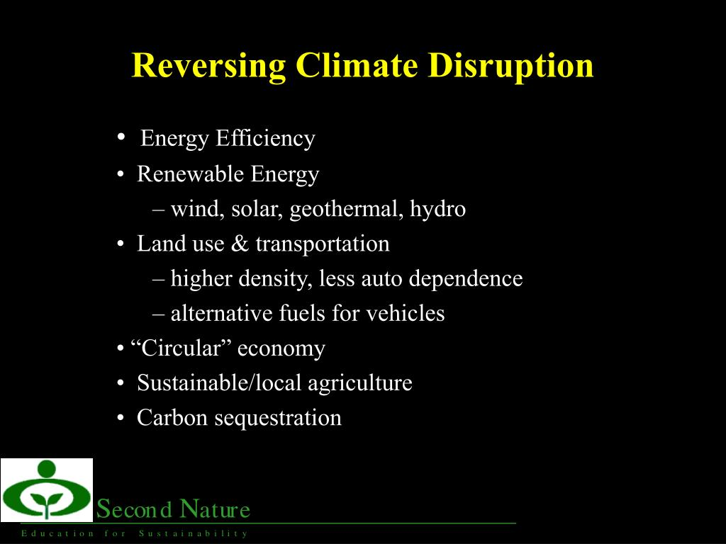 Reversing Climate Disruption