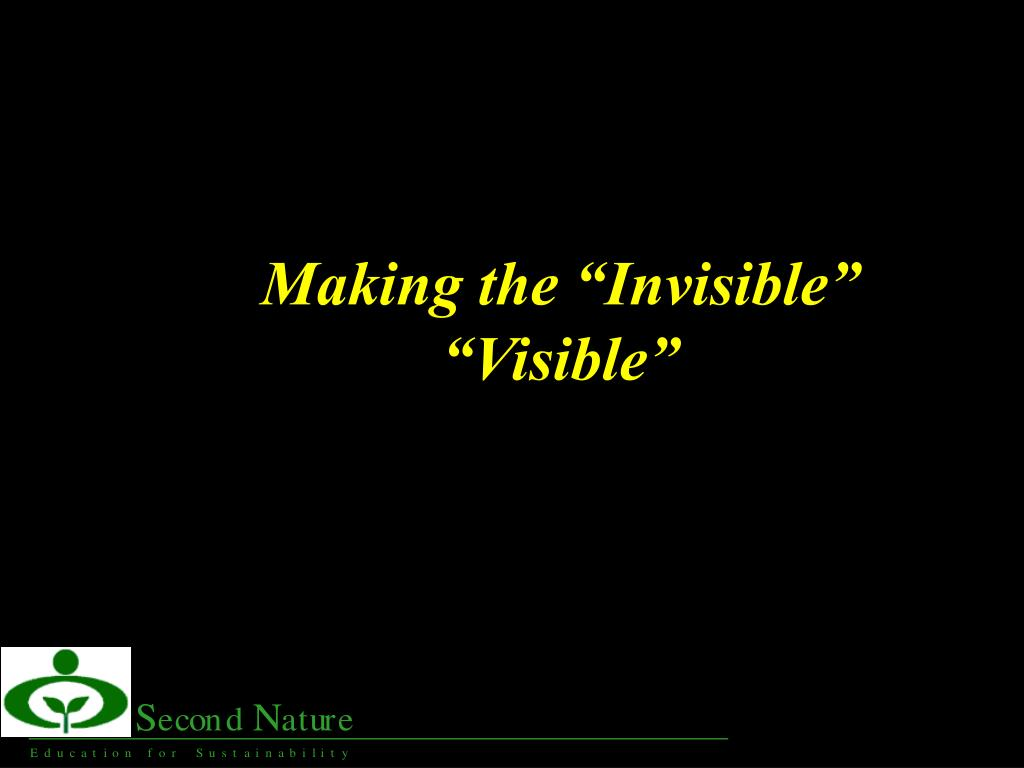 "Making the ""Invisible"""