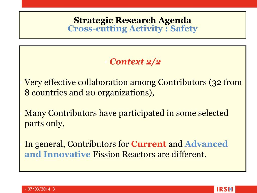 Strategic Research Agenda